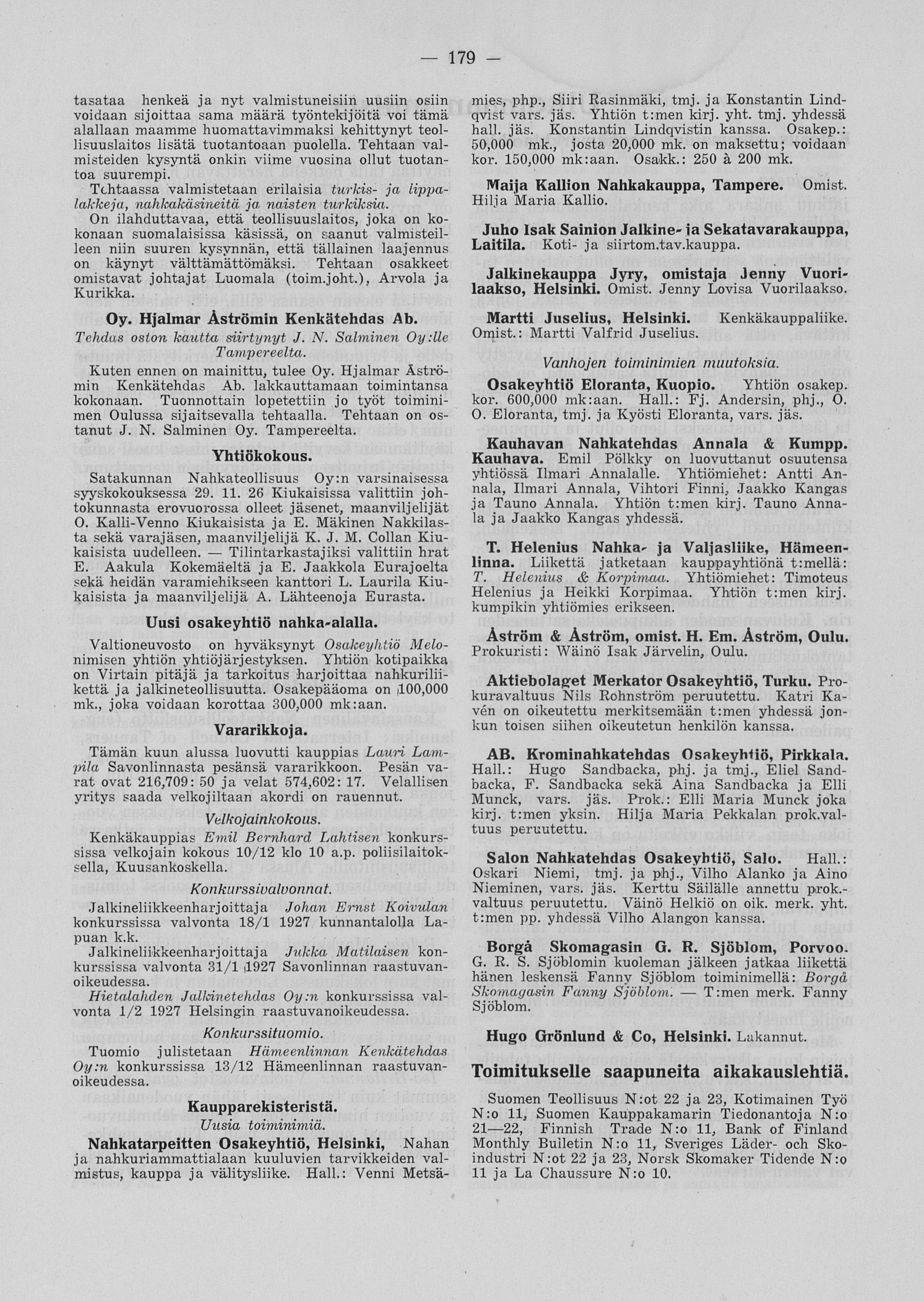 suosittu tuotemerkki uudet tarjoukset uudet tarjoukset 01.12.1926 Suomen nahka- ja kenkäteollisuus no 12 ...