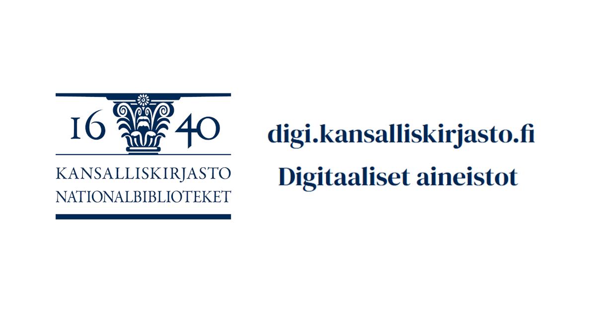 Etusivu - Digitaaliset aineistot - Kansalliskirjasto da750b2547