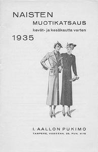 Naisten muotikatsaus kevät- ja kesäkautta varten, Tampere 01.01.1935
